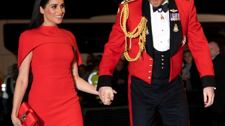 Harry y Meghan en el Mountbatten Festival of Music del Royal Albert Hall de Londres. (Reuters)