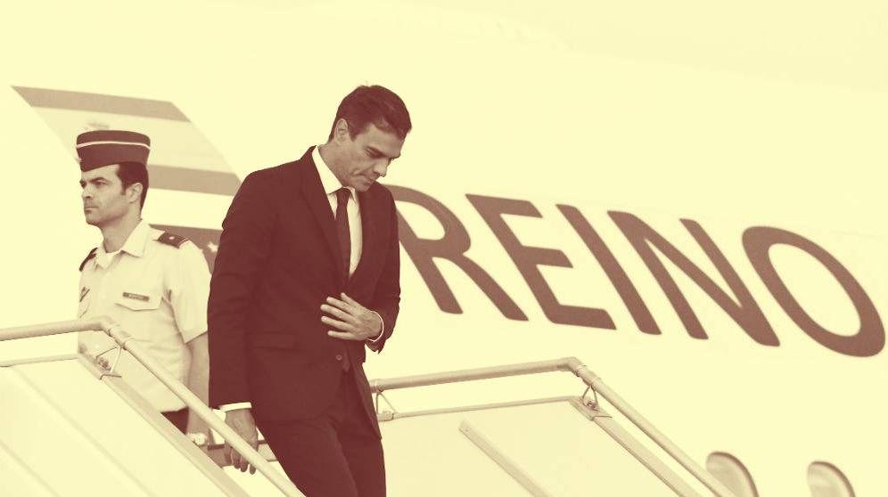 Foto: Pedro Sánchez llega a Los Ángeles. (EFE)