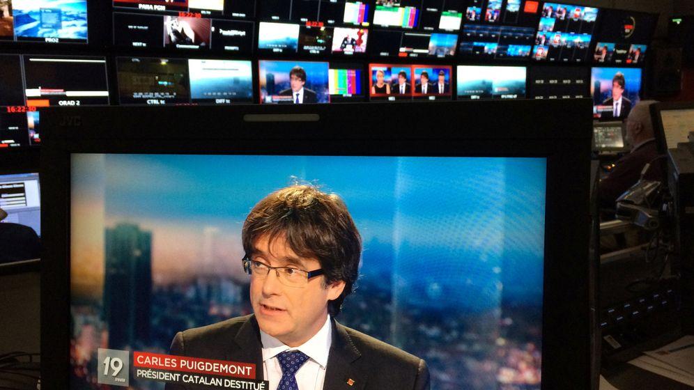 Foto: El expresidente de la Generalitat, Carles Puigdemont, durante una entrevista en la TV belga. (Reuters)