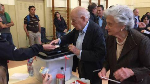 Jordi Pujol y Marta Ferrusola votaron en el referéndum catalán