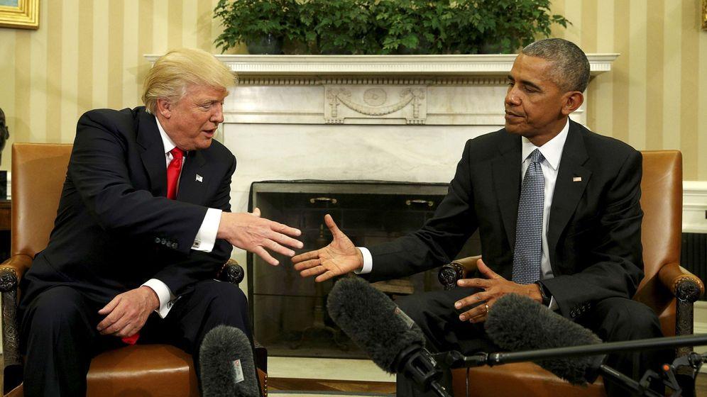 Foto: El presidente Obama se encuentra con Donald Trump en el Despacho Oval tras la victoria de éste, el 10 de noviembre de 2016 (Reuters)
