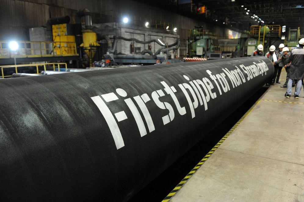 Foto: Las primeras tuberías del Nord Stream 2 en una planta de OMK, en Vyksa, Rusia. (Reuters)