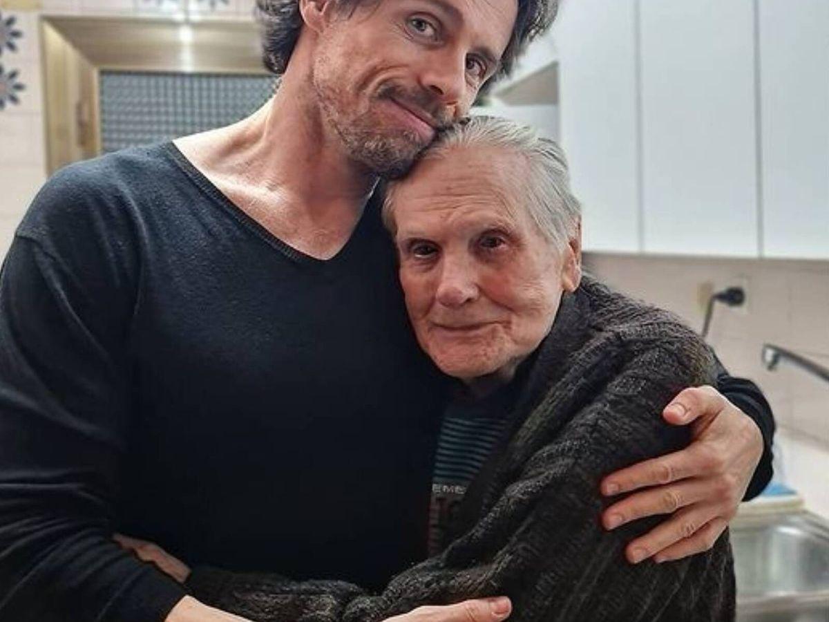 Foto: El actor Octavi Pujades, junto a su padre. (Instagram @octavipujades)