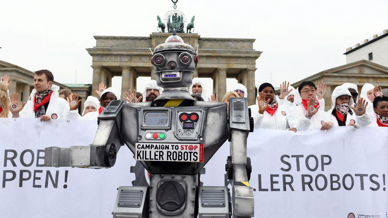 Activistas de la Campaign to Stop Killer Robots. (REUTERS)