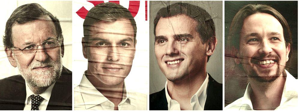 Foto: Carteles electorales de los cuatro candidatos durante la campaña de las anteriores elecciones.