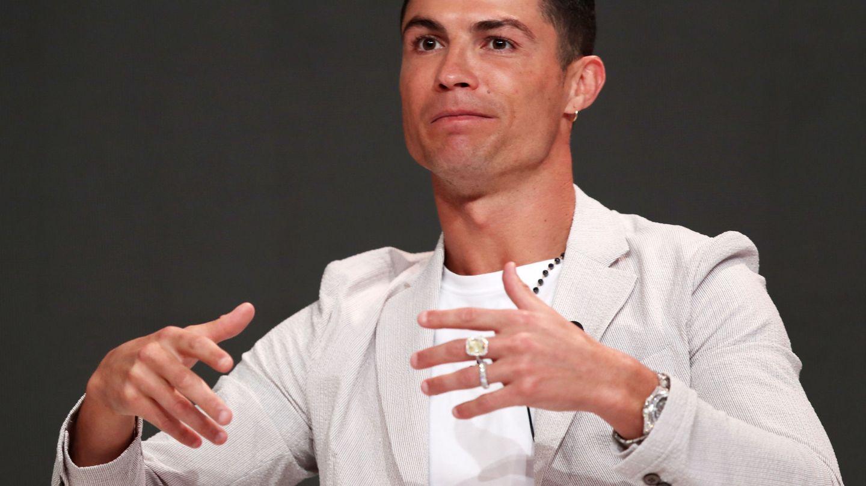 Cristiano Ronaldo durante su conferencia en Dubai. (EFE)