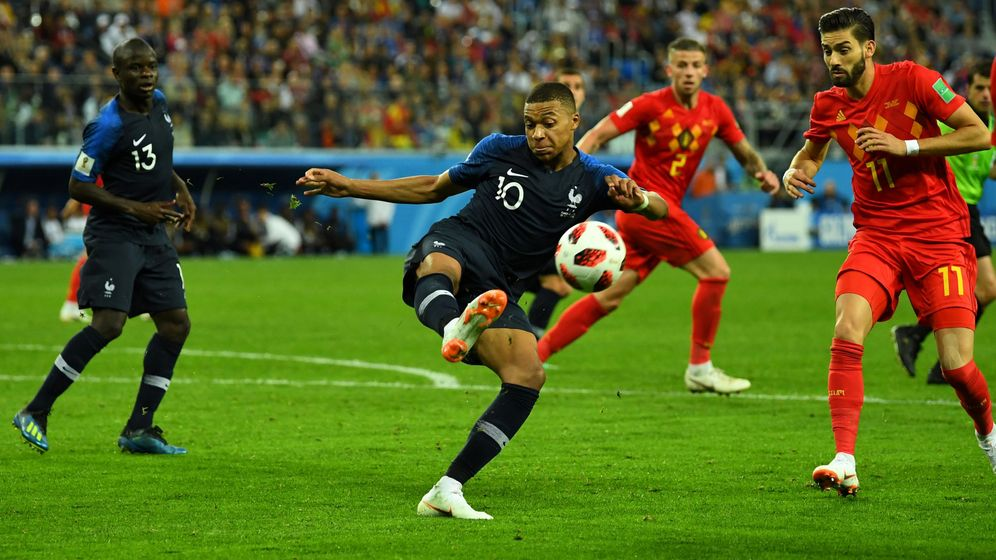 Foto: Mbappe, contra Bélgica. (Reuters)