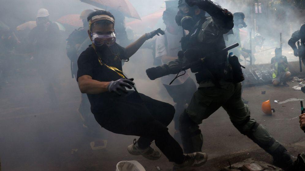 Foto: Disturbios en el campus universitarios. (Reuters)