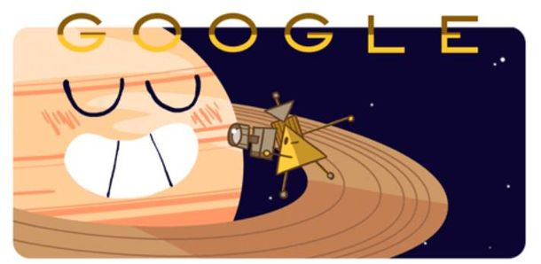 Foto: 'Doodle' que Google dedica a la sonda Cassini
