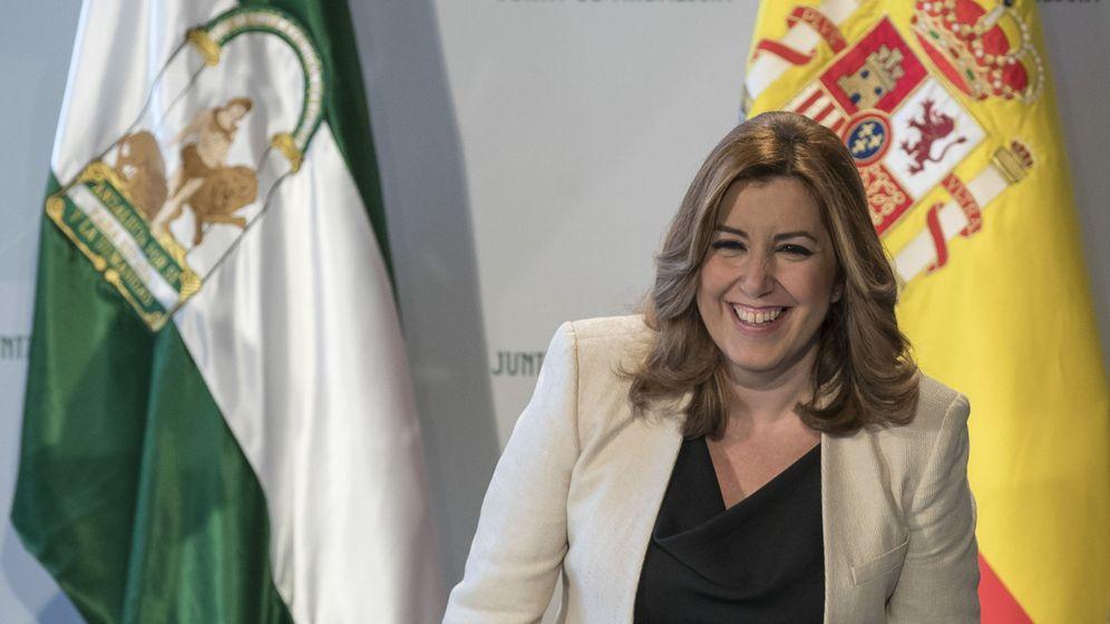 Foto: Susana Díaz durante una rueda de prensa. (EFE)
