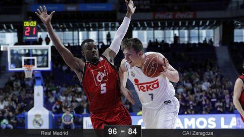 El Real Madrid alivia las penas con una victoria ante el CAI Zaragoza