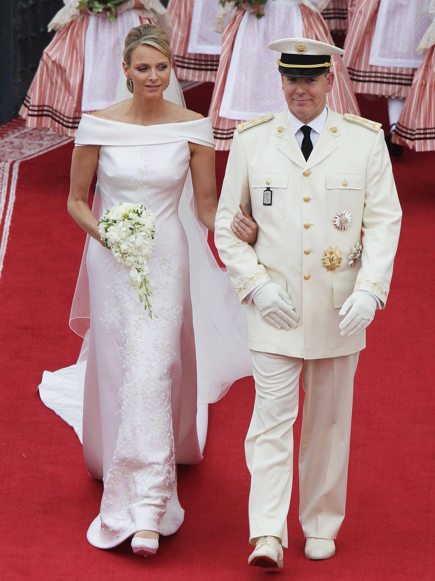 Charléne y Alberto, el día de su boda. (Getty)