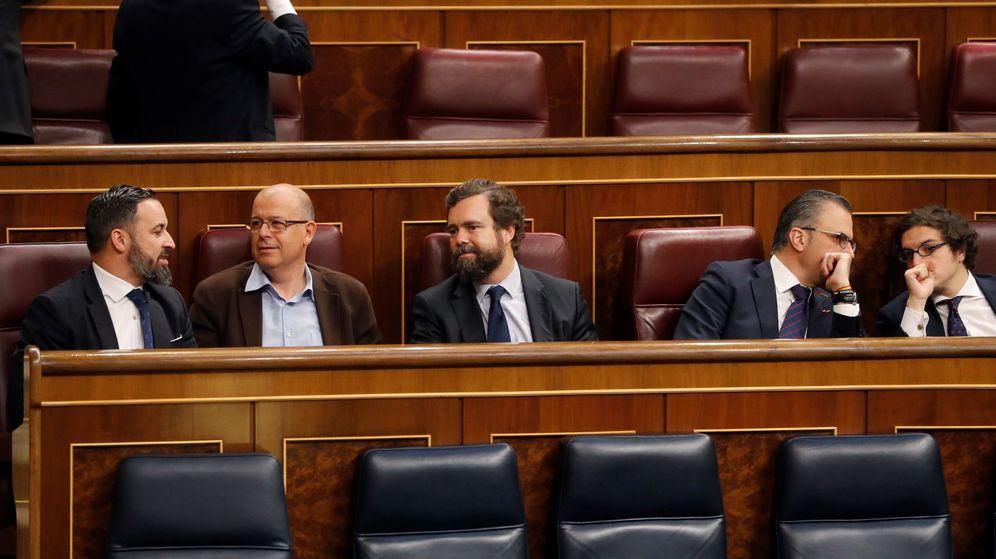 Foto: Santiago Abascal, José Zaragoza, Iván Espinosa de los Monteros y Javier Ortega Smith. (EFE)