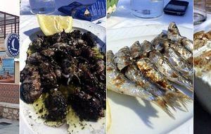 Comiendo pescado en Málaga, entre biznagas y meros