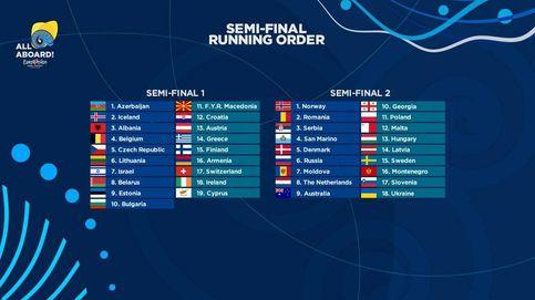 Desvelado el orden de actuación de las semifinales de Eurovisión 2018