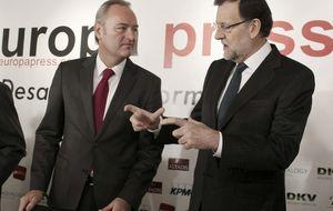 Rajoy y Barberá arropan a Fabra en plena crisis: Ni un duro a Canal 9