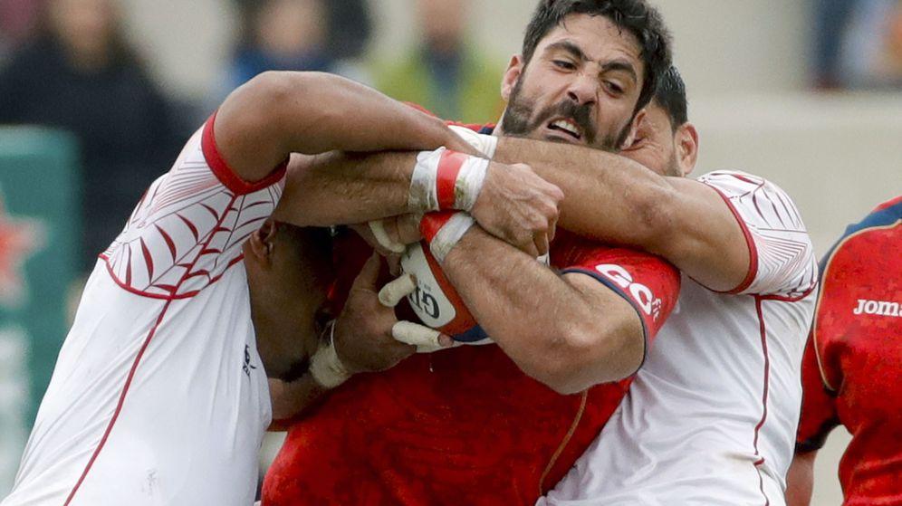 Foto: Jaime Nava, capitán de España, en el partido ante Tonga. (EFE)