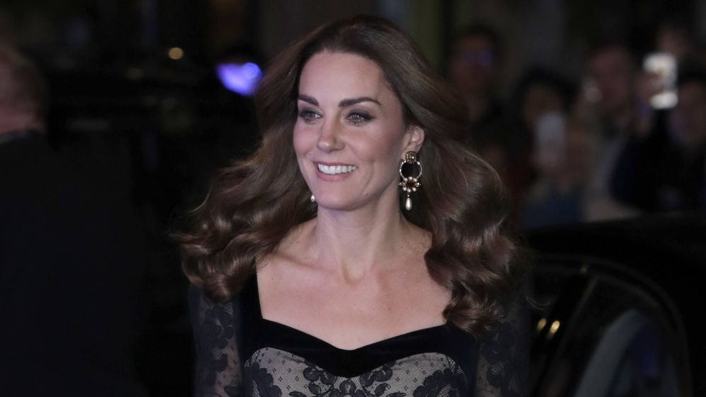 Foto: La duquesa de Cambridge en la Royal Variety. (Getty)