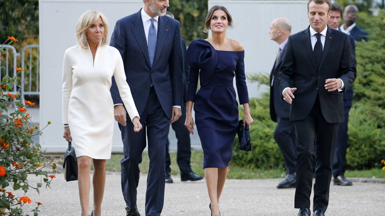 Los Macron junto a los Reyes de España, el octubre pasado en París. (Getty)