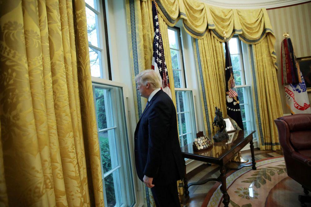 Foto: El presidente Donald Trump en el Despacho Oval de la Casa Blanca, en Washington. (Reuters)