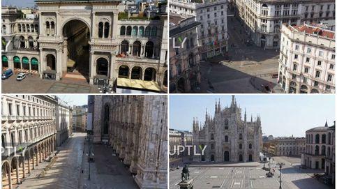 Visita las calles vacías de Milán a vista de dron y sin salir de casa