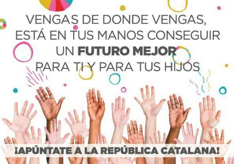 Folleto que anima a sumarse a la 'república catalana'