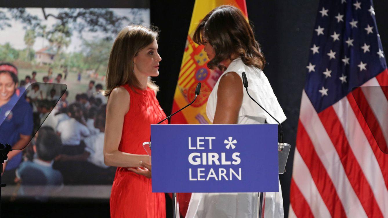 Foto: Doña Letizia y Michelle Obama presiden el acto de 'Let girls learn'