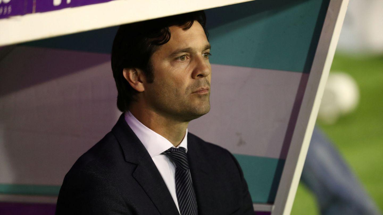 Solari, en el banquillo del José Zorrilla. (EFE)