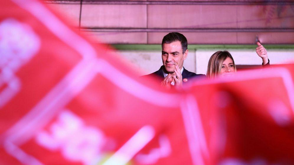 Foto: Pedro Sánchez, tras conocer los resultados electorales. (Reuters)
