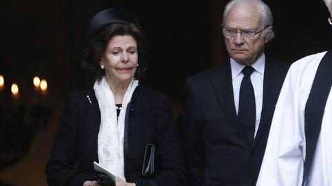 Lágrimas y ausencias en el funeral de la tía del rey Carlos Gustavo de Suecia