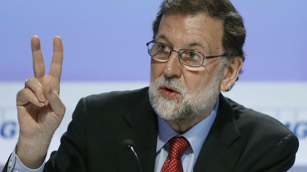 Foto: El presidente del Gobierno, Mariano Rajoy, en la clausura de la Reunión del Círculo de Economía de Sitges. (EFE)