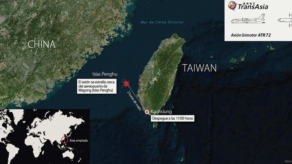 Al menos 47 muertos al estrellarse un avión de TransAsia en Taiwán