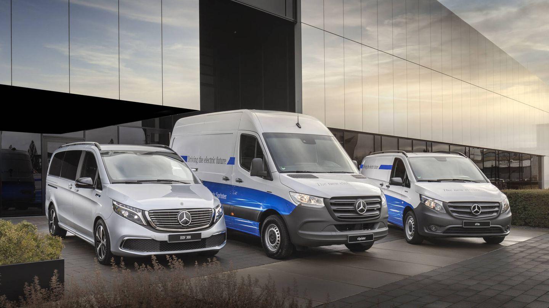 En la gama eléctrica de Mercedes-Benz Vans se ofrecen actualmente los modelos EQV, eSprinter y eVito.