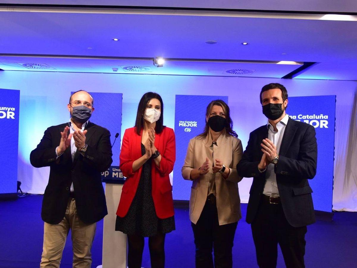 Foto: Acto de apertura de la campaña del PP para las elecciones catalanas del 14-F. (Europa Press)