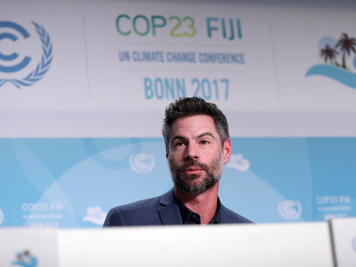 Foto: Michael Shellenberger durante la Cumbre Climática de Bonn de 2017. (EFE)
