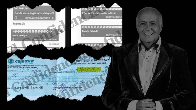 Foto: Extractos de mensajes intercambiados por José Luis Moreno.