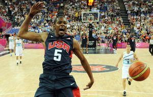 Durant lidera la preselección de 19 jugadores de EE UU para el Mundial