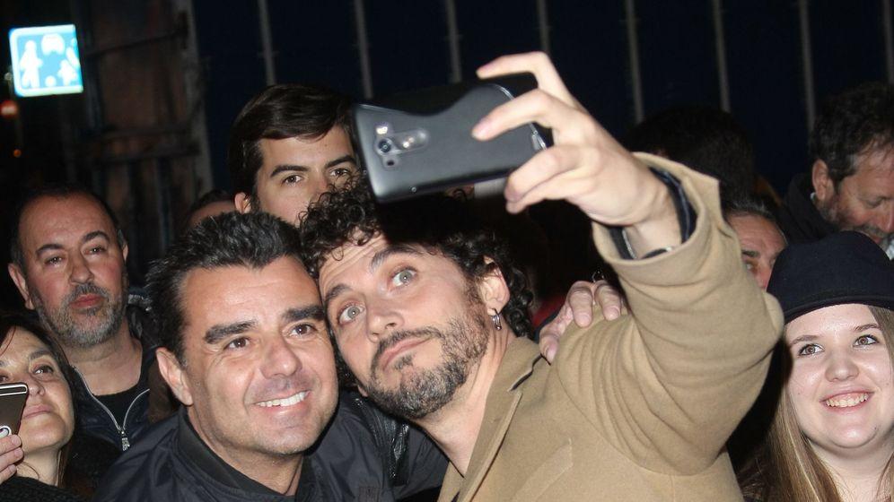 Foto: Miguel Poveda este martes en Madrid