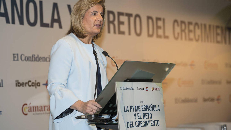 Fátima Báñez, durante su intervención en el Foro 'La pyme española y el reto del crecimiento'