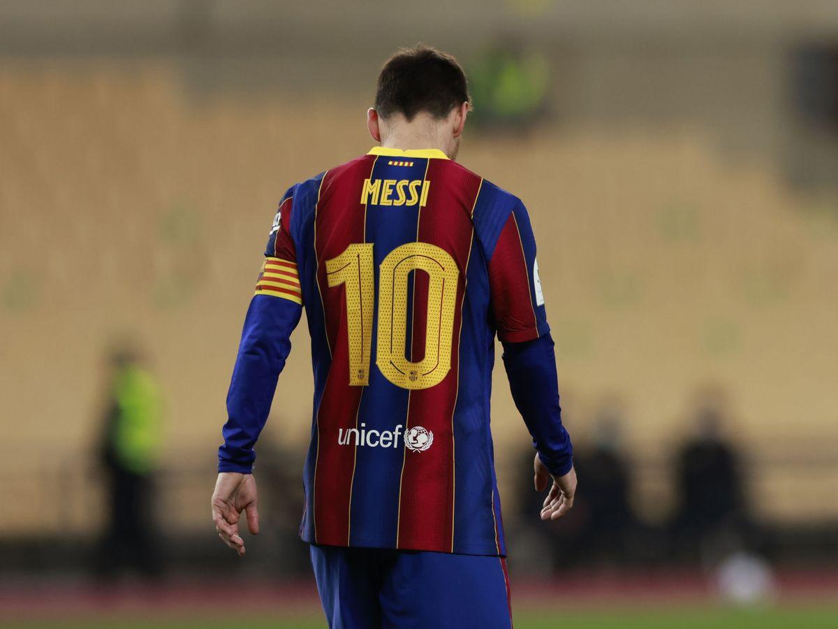 Foto: Messi, tras perder la Supercopa de España. (Reuters)