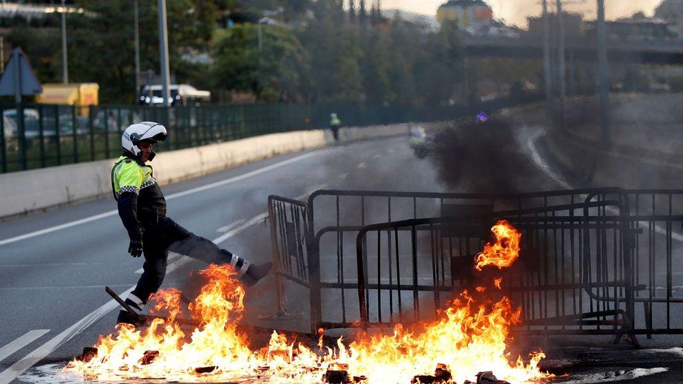 Estas son las carreteras cortadas y trenes afectados por los disturbios en Barcelona