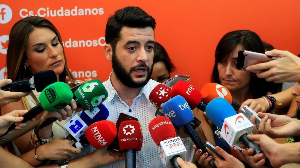 Foto: El secretario de Organización de Ciudadanos (Cs) Madrid, César Zafra. (EFE)