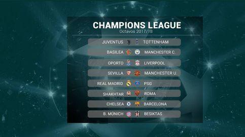 Real Madrid-PSG, Chelsea-Barcelona y Sevilla-United, en octavos de Champions