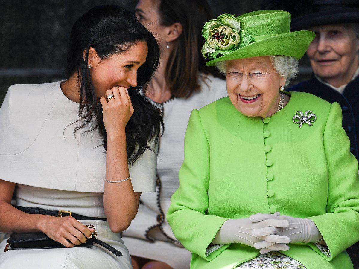Foto:  Meghan Markle, junto a Isabel II. (Getty)