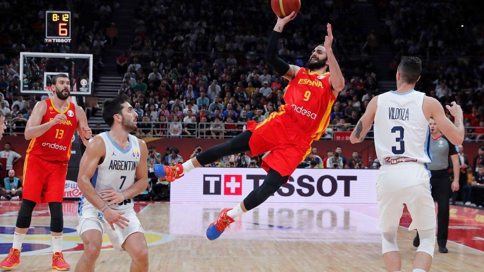 Foto: Ricky Rubio ante Argentina en la pasada final del Mundial de baloncesto. (EFE)
