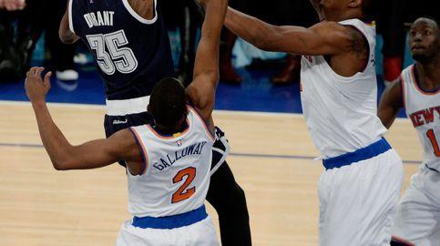 Durant firma su mejor marca del curso para ganar a los Knicks en la prórroga