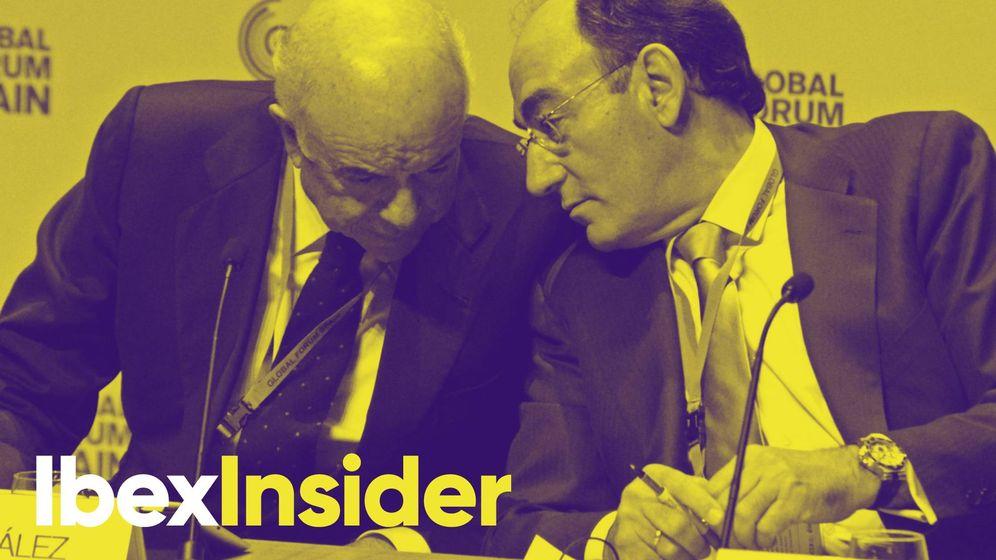 Foto: Francisco González e Ignacio Sánchez Galán, en una imagen de archivo. (Montaje: EC)