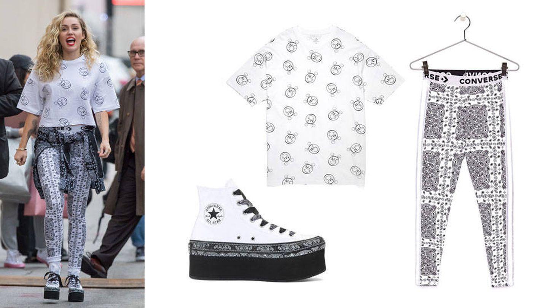 Miley con total look de Converse. (Gtres/Converse)