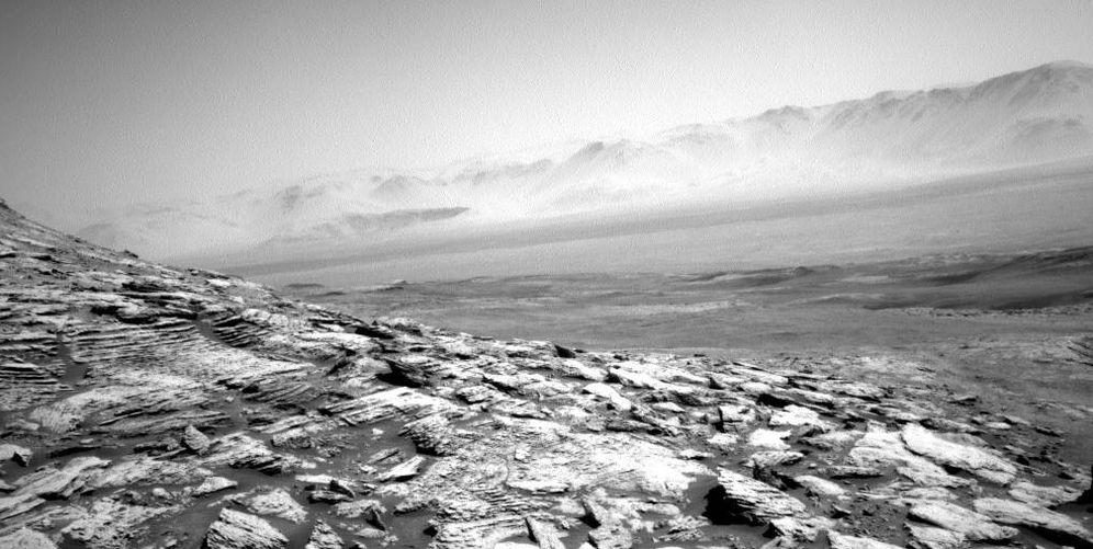 Foto: La imagen tomada por el Curiosity, un espectacular valle provisto de vida. (NASA)