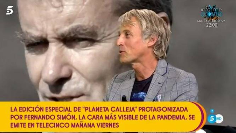 Jesús Calleja, en 'Sálvame'. (Telecinco)
